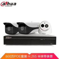 dahua 大华(dahua)3路监控设备套装600万网络高清监控摄像头套装H.265高清安防套餐带POE供电(含2TB监控硬盘) 3路套装+2TB+配件
