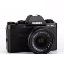 富士(FUJIFILM)X-T100/XT100 微单数码相机/无反照像机/2420万像素/4K视频 黑色(15-45mm)镜头套机 黑色(15-45mm)镜头套机
