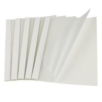金典 GOLDEN 金典 GOLDEN 热熔封套 热熔装订机专用装订封皮A4/4MM白色布纹磨砂(20个/盒)25-36页装订 4MM白色磨砂