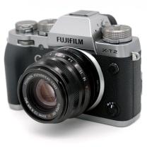 富士(FUJIFILM)X-T2 GS(XF35mm F2)微单电套机 碳晶灰 2430万像素去低通 4K 镁合金防滴防尘 多向折屏 碳晶灰