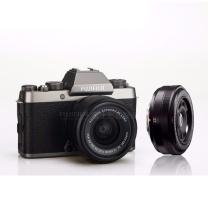 富士(FUJIFILM)X-T100/XT100 微单数码相机/无反照像机/2420万像素/4K视频 深银色(15-45mm&27/f2.8双头套装) 深银色(15-45mm&27/f2.8双头套装)