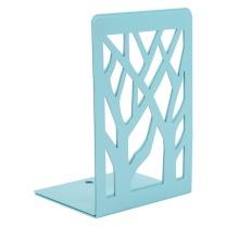晨光(M&G)6.8英寸蓝色树影金属铁书立创意挡书板 2个装ABS91718 树影蓝