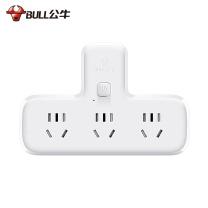 公牛 BULL 公牛(BULL)GN-9603K 品字形 一位总控一转三 品字形一转三插座/转换插头/电源转换器 3位总控无线转换插座