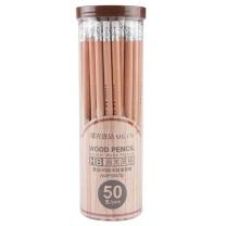 晨光 M&G 晨光(M&G)文具HB带橡皮头木杆铅笔学生木质铅笔 50支/盒AWP30415 HB 50支(橡皮头)