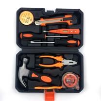 伏兴 伏兴 FX349 9件套家用工具箱套装 多功能维修工具组套 组合工具套装 9件工具套装(羊角锤款)