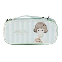 晨光 M&G 晨光(M&G)Dolly girl多功能粉绿色笔袋 大容量收纳袋APBN3485 多功能 粉绿