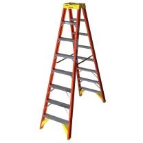 稳耐 稳耐(werner)T6208CN 玻璃钢工业梯双侧折叠人字梯2.5米工业级电工梯子电力电信联通工程绝缘梯八步梯 T6208CN 2.5米