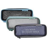 晨光 M&G 晨光(M&G)文具学生笔袋加长型化妆网纱半透明大容量收纳铅笔袋1个3色外观随机 APBN3457 网纱半透明A款