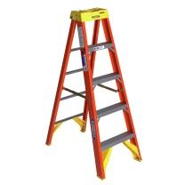 稳耐 稳耐(werner)玻璃钢梯子1.5米绝缘电工梯单侧折叠人字梯电力电信工程工业梯五步登高梯6205CN 6205CN 1.5米