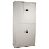 保险柜 全能文件柜 带锁办公家用密码保险储物资料箱柜 WJG180 (四门) 高180CM 规格(180CM高 四门)