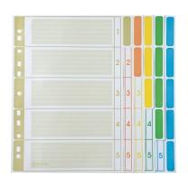 齐心 Comix 齐心(Comix) A4 5页索引纸 五色分类纸 11孔纸质 30本/套 IX205