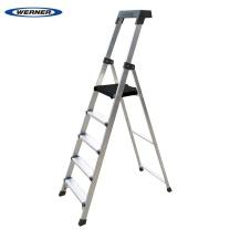 稳耐 稳耐(werner)铝合金梯子1.8米单侧平台人字梯多功能登高梯宽踏板梯蹬楼梯P275CN 五步梯 1.8米