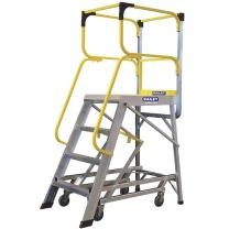 稳耐 稳耐(werner)FS13592 大力神移动平台梯登高货架梯工业级1.1米宽踏板四步工程梯带轮锁超市仓库理货梯 FS13592 1.1米