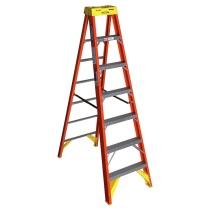 稳耐 稳耐(werner)玻璃钢梯子1.8米绝缘电工梯单侧折叠人字梯电力电信工程工业梯六步登高梯6206CN 6206CN 1.8米