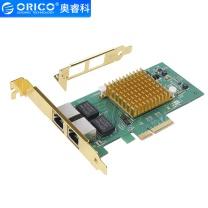 奥睿科 ORICO 奥睿科(ORICO)千兆网卡PCI-E转RJ45扩展卡台式机主机箱内置高速转接卡支持Boot Rom PTR-I2U PCI-E转RJ45支持Boot Rom