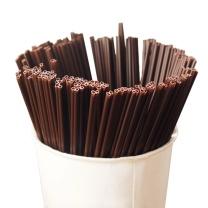 奥美优 一次性咖啡吸管 双排两孔咖啡搅拌棒热饮管咖啡调棒 300支 AMY1123