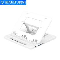 奥睿科 ORICO 奥睿科(ORICO)平板笔记本扩展坞支架电脑支架 桌面增高收纳架子 便携手提 USB3.0+Type-A 白NSN-SC2A 折叠支架-带SD/TF卡槽/TYPE-A 白