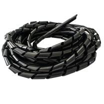 伏兴 伏兴 理线管理线器 束线管缠绕管绕线器 线缆绕线管收纳管 黑色12mm(长约6米)x10包 黑色12mm(长约6米)