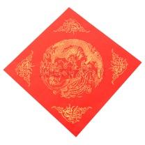 芬尚 芬尚 wnh1503 万年红宣纸 福字斗方春联对联 福字春字斗方