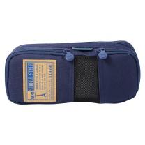 晨光 M&G 晨光(M&G)文具蓝色网格多功能多层大号笔袋文具盒收纳袋 单个装APB93599 网格蓝