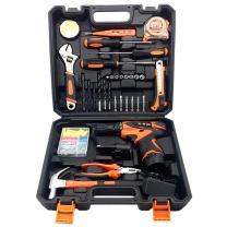 伏兴 伏兴 FX357 36件套锂电钻工具套装 12V锂电双电池 家用工具箱套装 多功能电动工具组套 36件套锂电钻套装(双电池)