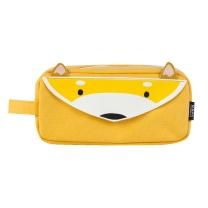 晨光 M&G 晨光(M&G)别咬我系列黄色小狐狸大方形笔袋 大容量文具收纳袋APBN3675 小狐狸
