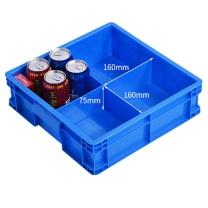 伏兴 伏兴 多格收纳箱加厚塑料收纳盒元件盒 多用途周转箱带格子工具箱零件盒 蓝色 正4格368*355*108mm 正4格 368*355*108mm