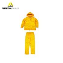 代尔塔 DEITAPLUS 代尔塔 / DELTAPLUS 407003 PVC劳保分体雨衣 黄色 XL 1套 407003-黄色