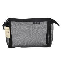 晨光 M&G 晨光(M&G)透明网纱笔袋黑色1个装APB95495 大号黑色