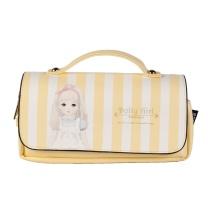 晨光 M&G 晨光(M&G)Dolly girl手提式粉黄色三层笔袋 大容量收纳袋APBN3484 手提式 粉黄