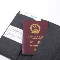 纽赛 NUSIGN 纽赛(NUSIGN)防水溅多功能护照包机票护照夹 旅行证件袋保护套 深空灰NS463 护照机票包