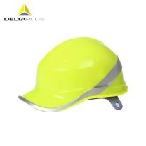 代尔塔 DEITAPLUS 代尔塔102018安全帽 工地安全帽工程建筑绝缘施工安全帽 ABS材质无通气孔 荧光黄 一顶装 荧光黄