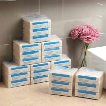 欧润哲 欧润哲 纸巾 无漂白竹纤维抽纸 便携式本色手帕纸 24包装 90抽*24包
