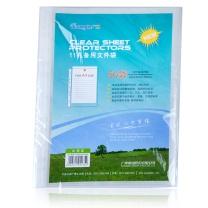 广博 文件袋11孔保护袋A4快劳夹打孔塑料透明活页资料袋0.08mm50个办公用品 50只加厚