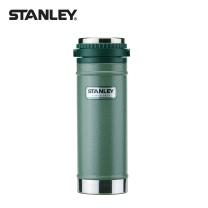 STANLEY Stanley史丹利经典系列不锈钢真空时尚保温压滤杯473毫升-绿色(双层保温咖啡压滤杯)