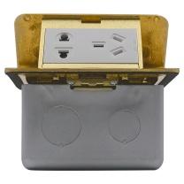 霍尼韦尔 honeywell 霍尼韦尔(honeywell)开关插座 10A铜五孔阻尼地插二三极地面地板电源插座 含底盒