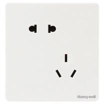 霍尼韦尔 honeywell 霍尼韦尔(honeywell)开关插座面板 10A错位斜五孔插座二位二三极插座 境尚系列 白色