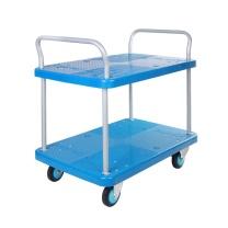 连和 连和(uni-silent)PLA250Y-T2-D(蓝色)四轮全静手推车搬运车双层小推车货车825*500MM承载250KG