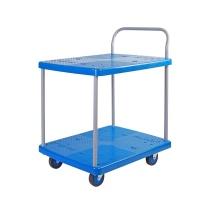 连和 连和(uni-silent)PLA150Y-T2(蓝色)双层小推车货车工具车搬运车平板手推车720*490MM承载150KG